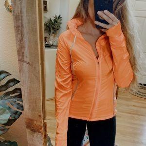 Sweaty Betty Coral Orange Zip Up Workout Jacket